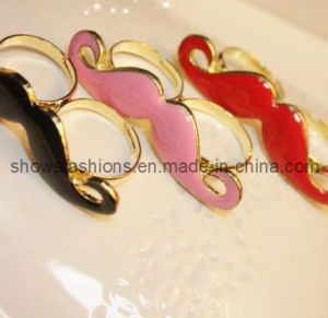 Finger Ring/Two-Finger Alloy Plated with Enamel Ring/ Fashion Jewelry (XRG12047) pictures & photos