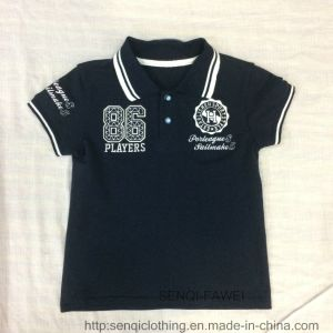 Kids Embroidered Polo Shirts with Rib Collar Sq-6337