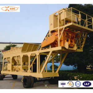 25m3/H Mobile Concrete Batching Plant for Road Construction