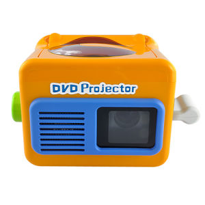Portable LED Projector with Stereo Speaker and Built-in DVD Player