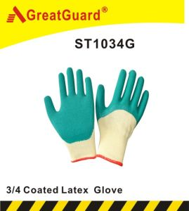 3/4 Glass Gripper Glove (ST1034G) pictures & photos