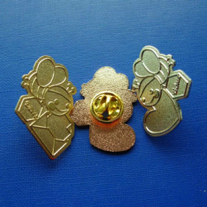 Custom Different Design Abt Frosted Gold Plate Lapel Pin (GZHY-LP-024) pictures & photos