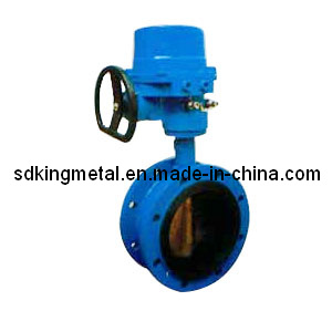 Rubber Seat Gear Operation Flanged Butterfly Valve pictures & photos