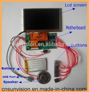"Rechargeable Battery Video Greeting Card 4.3"" 5"" LCD Module pictures & photos"