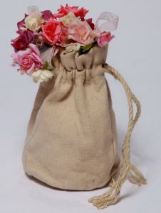 Hemp Small Jute String Bag with Hemp Rope (HSBG-004) pictures & photos