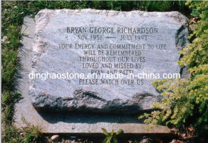 Grey Granite Ground Headstone (DH-T073)