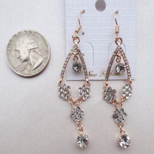 2014 Beauty Women Alloy Crystal Flower Earring (33HH3062)