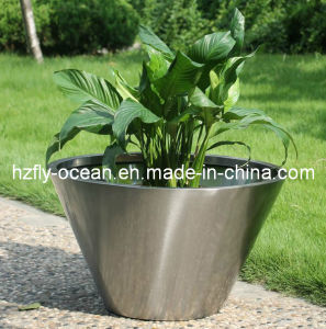 Fo-9013 Round Bowl Stainless Steel Plant Pots pictures & photos