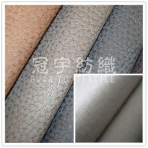 Thick Embossed Polyester Suede Leather for Sofa Cloth pictures & photos