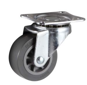 75 mm Light Duty Wheel Fixed PU Wheel Caster pictures & photos