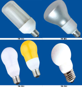 Cover Shaped and Pear Shaped Energy Saving Lamp (TW-CS1, TW-MR1, TW-PB3, TW-PB2)