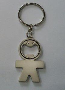 Chrome Metal T Shirt Keychain, Metal Football Blank Keyring for Sublimation pictures & photos