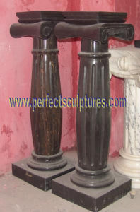 Stone Marble Granite Sandstone Column with Pillar (QCM142) pictures & photos