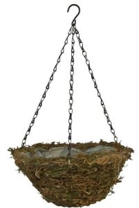 Moss Coconut Fiber Hanging Basket with Chain pictures & photos