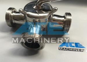 Stainless Steel Flanged Sanitary 3way Plug Valve (ACE-XSF-55) pictures & photos