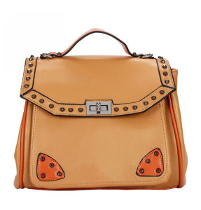 (FJ28-079) Newest Blank Lady Briefcase Square PU Leather Hand Bag