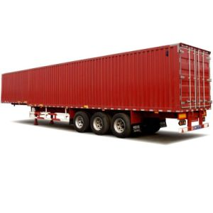 Heavy Duty Tri-Axle 40ft Van Box Semi Truck Trailer pictures & photos