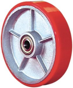PU on Cast Iron Single Wheel - Red (5505560) pictures & photos