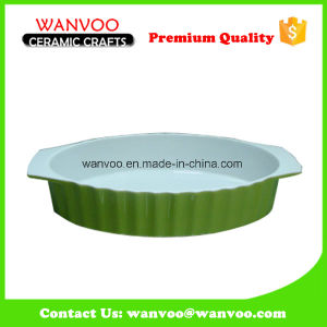 Simple Green Color Cheapest Nonstick Ceramic Baking Tray pictures & photos