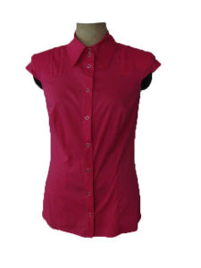 Lady′s Woven Blouse - 3