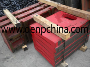 Jaw Crusher Spare Parts Toggle Plate From Denp pictures & photos