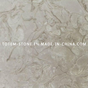 Cheap Golden Flower Marble Stone Tile for Bathroom or Kitchen pictures & photos