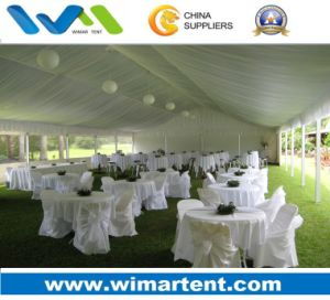 6m Outdoor Romantic White Marquee Wedding Tent with Roof Linings pictures & photos