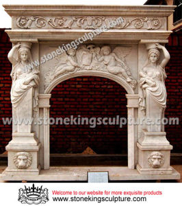 Top Quality Stone Carving Fireplace Mantel (SK-2392) pictures & photos