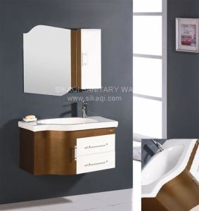 Solid Wood Bathroom Cabinet with Custom Design pictures & photos