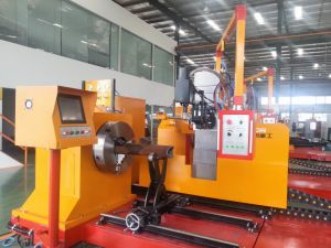 Plasma and Flame 3D CNC Pipe Profile Bevel Cutting Machine pictures & photos