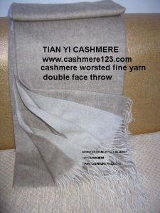 Cashmere Worsted Fine Throw pictures & photos