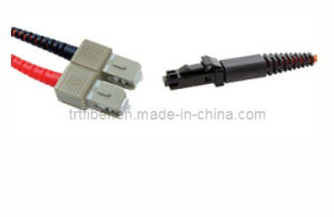 Fiber Optic Patchcord SC-MTRJ Multimode Duplex Connector (Fiber Jumper) pictures & photos