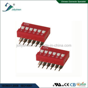 DIP Switch Pitch 2.54mm Profile Button 6p Right Angle DIP Type pictures & photos