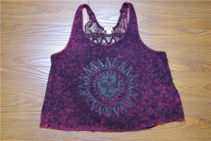 Sexy Women Clothing Purple Backless Women Lace Blouse pictures & photos