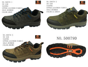 No. 50079 Three Colors Men′s Hiking Shoes Stock Shoes pictures & photos