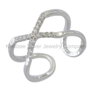 925 Sterling Silver Jewelry Finger CZ Ring (KR3092) pictures & photos