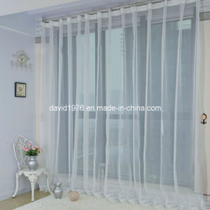 Hot Sale Solid White Color Voile Curtain (SZSMEV010)