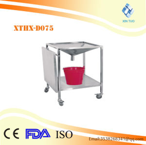 Factory Direct Price Easy Clean Medical Ss. Mobile Treatment Trolley for Hospital Clinic pictures & photos