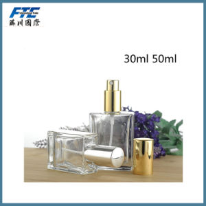 30ml 50ml Transparent Square Glass Perfume Bottle pictures & photos