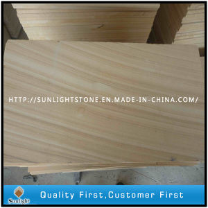 Honed/Bushhammered/Sawn Wooden Vein Sandstone for Paving pictures & photos