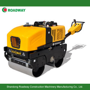 Ce Certificate Walk Behind Fully Hydraulic Double Drum Vibratory Road Roller, Vibratory Compactor pictures & photos