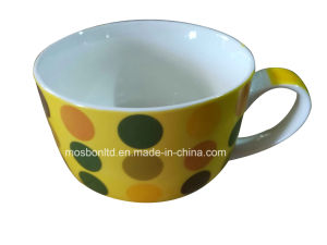 Porcelain Soup Mug with Decal pictures & photos