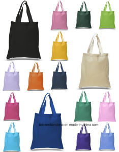 OEM Produce Logo Printed Promotional Colorful Cotton Canvas Tote Bag Hand Bag pictures & photos