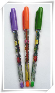 Popular Design PP Material Colorful Glitter Pen (M-528)
