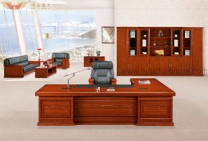 Classical Luxury Wood Veneer Executive Office Table (HY-NNH-K03-18) pictures & photos