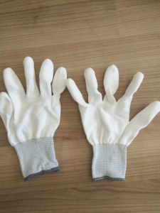 PU Finger Tip PU Coated Safety Work Gloves (PU011) pictures & photos