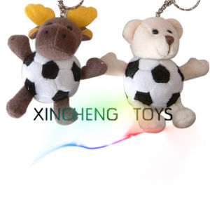 Plush Football Animal Keychain, Plush Moose, Bear Keychain