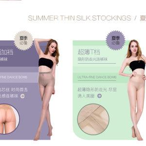 Ladies Sexy Black Jacquard Summer Stockings
