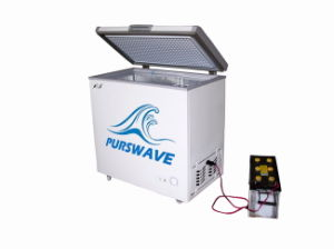Purswave Bd/Bc-200 200L DC Solar Chest Freezer 12V24V48V Single Door Refrigerator DC Compressor Freezer Powered by Solar Panel and Battery -18degree pictures & photos