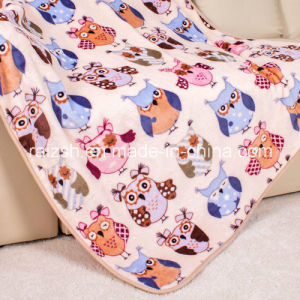 Autumn and Winter Flannel Blanket Children Blanket with Printed Owl pictures & photos